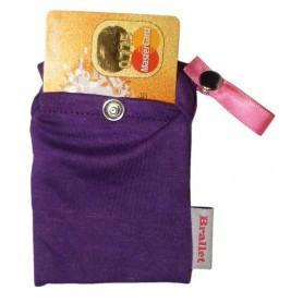 Bye Bra, Brallet Mon cherie purple, key, license, credit card cash holder 9133, Brallet, 9133