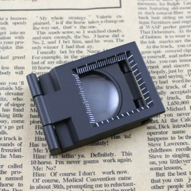 NedRo, Metal Fold Texture Magnifier 10X Zoom, Magnifiers microscopes, AL268