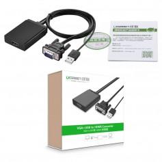 UGREEN - VGA+USB to HDMI Converter Adapter - HDMI adapters - UG101-CB