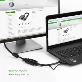 UGREEN, HDMI to VGA+3.5MM Audio+Mirco USB converter, HDMI adapters, UG102-CB