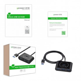 UGREEN - USB 3.0 HUB 4 port - Ports and hubs - UG130-CB www.NedRo.us