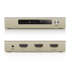 UGREEN - Ugreen 2-Port 1x2 Powered HDMI Splitter 2K 4K 3D UG138 - HDMI adapters - UG138