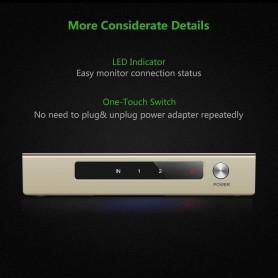 UGREEN, Ugreen 2-Port 1x2 Powered HDMI Splitter 2K 4K 3D UG138, HDMI adapters, UG138, EtronixCenter.com