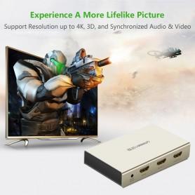 UGREEN, Ugreen 2-Port 1x2 Powered HDMI Splitter 2K 4K 3D UG138, HDMI adapters, UG138