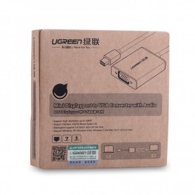 UGREEN, Mini Display Port to VGA Female Converter Aluminium Case UG147, VGA adapters, UG147