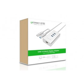 UGREEN, USB 3.0 to HDMI +3 port USB 3.0 Multi-Display Adapter UG160, USB adapters, UG160, EtronixCenter.com