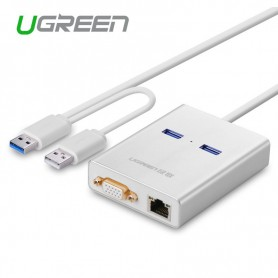 UGREEN, USB 3.0 Multi-Display Graphic Card 1000 Gigabit Ethernet UG161, Network adapters, UG161, EtronixCenter.com