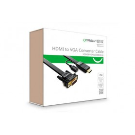 UGREEN, HDMI to VGA converter flat cable with Chipset in HDMI, HDMI cables, UG170-CB, EtronixCenter.com