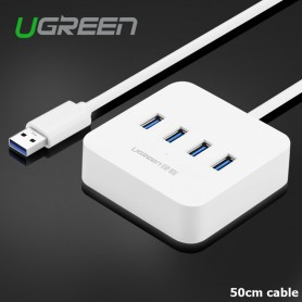 UGREEN, USB 3.0 HUB 4 Ports 5Gbps, Ports and hubs, UG195-CB, EtronixCenter.com