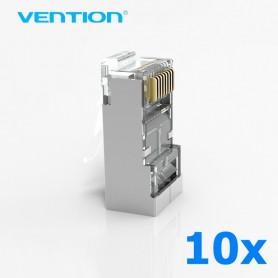 Vention, 10x Vention CAT6 RJ45 Plug 8P8C Modular Network Plug AL456, Network adapters, AL456, EtronixCenter.com
