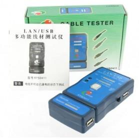 unbranded, Cable Tester LAN USB A/A A/B RJ45 RJ11 RJ12, Network Tools, YNK001