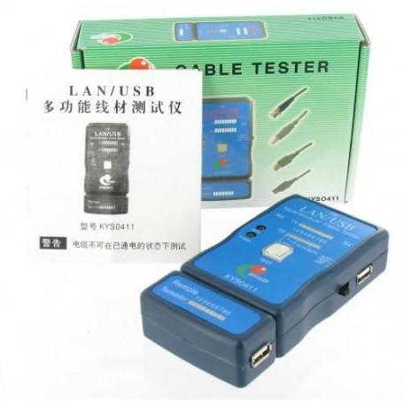 NedRo, Cable Tester LAN USB A/A A/B RJ45 RJ11 RJ12, Network Tools, YNK001, EtronixCenter.com