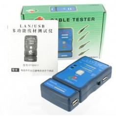 Cable Tester LAN USB A/A A/B RJ45 RJ11 RJ12