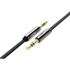 UGREEN - 3.5mm Male-Male Audio Jack Ultra Flat cable Black - Audio cables - UG250-CB