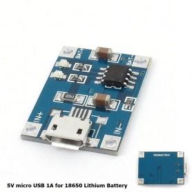 NedRo - 5V Micro USB 1A 18650 Battery Charging Board Module - Battery accessories - AL887-CB www.NedRo.us