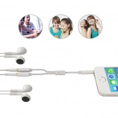 UGREEN - 3.5mm Male to 2 x 3.5mm Female Slim Stereo Splitter - Audio cables - UG276-CB