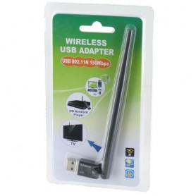 NedRo - 150Mbps Wifi Adapter with External Antenna Ultra Mini YNW039 - Wireless - YNW039