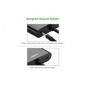 UGREEN, Micro HDMI to HDMI and VGA Converter Adapter, HDMI adapters, UG290-CB, EtronixCenter.com