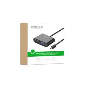 UGREEN - Micro HDMI to HDMI and VGA Converter Adapter - HDMI adapters - UG290-CB