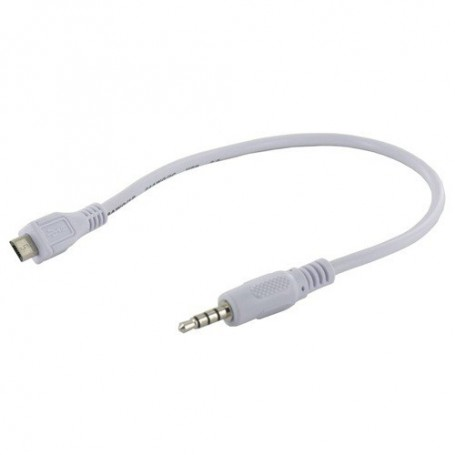 NedRo - Micro USB male to 3.5mm Male Jack Audio Cable 30cm White YPU728 - Audio adapters - YPU728 www.NedRo.us