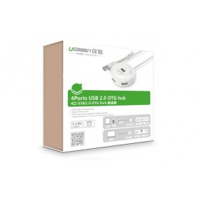 UGREEN - USB 2.0 Hub 4 Ports with OTG Function - Ports and hubs - UG353-CB www.NedRo.us