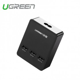 UGREEN - 3 Port USB Charging Station Hub 5V - 4A Black UG357 - Ports and hubs - UG357 www.NedRo.us