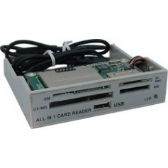 NedRo, ALLin1 3,5 Grey Panel Cardreader YPP006, DVD CDR and readers, YPP006