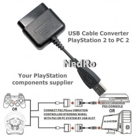 NedRo, USB Cable Converter PlayStation 1 and 2 to PC, PlayStation 1, YGU003