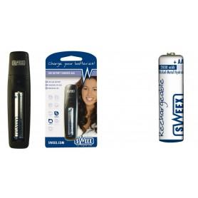 NedRo, Sweex USB Battery Charger AAA Incl. AAA Battery 800mA, Battery chargers, YBU018