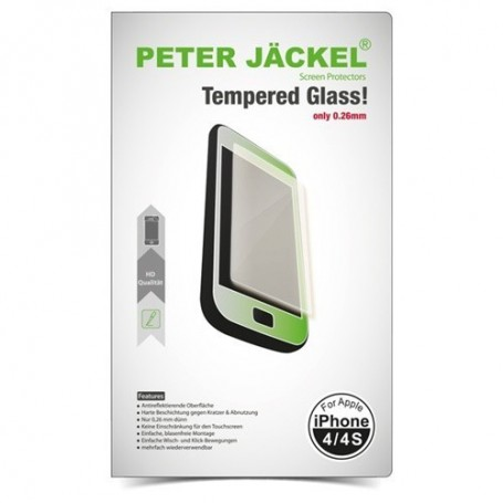 Peter Jäckel - Peter Jackel HD Tempered Glass for Apple iPhone 4 / 4s - iPhone tempered glass - ON2529