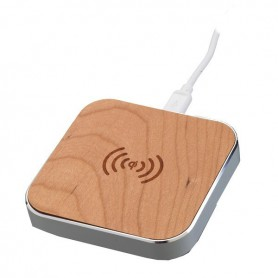 Unbranded - QI WIRELESS CHARGER WOODY SILVER by PETER JÄCKEL™ ON3205 - Wireless chargers - ON3205