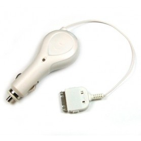 Car Charger Apple Dock-Connector Roll-In 30-pin 500mA ON924