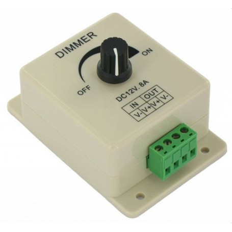 NedRo - Single color LED Dimmer switch for 12V and 24V LED Strip - LED Accessories - LCR08 www.NedRo.us