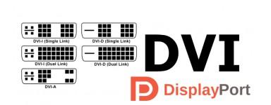 DVI and DisplayPort adapters
