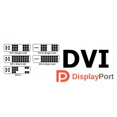 DVI and DisplayPort adapters